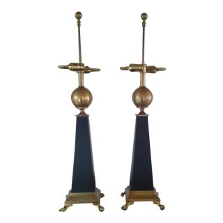 Chapman' Signed Contemporary Hollywood Regency Lamps (Pair)
