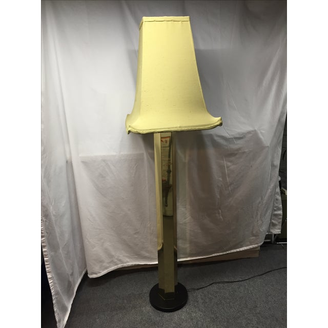 Hexagonal Brass Column Floor Lamp - Image 2 of 9