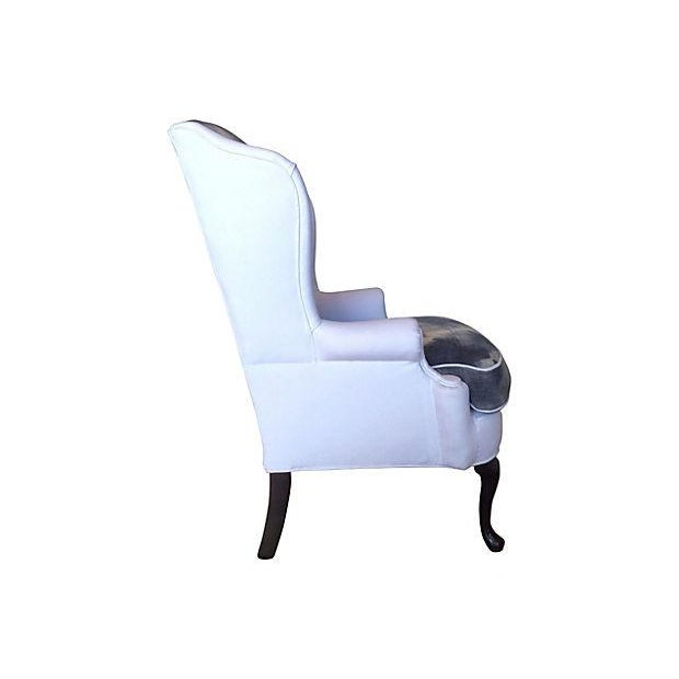 Indigo & White Denim Wingback - Image 3 of 5