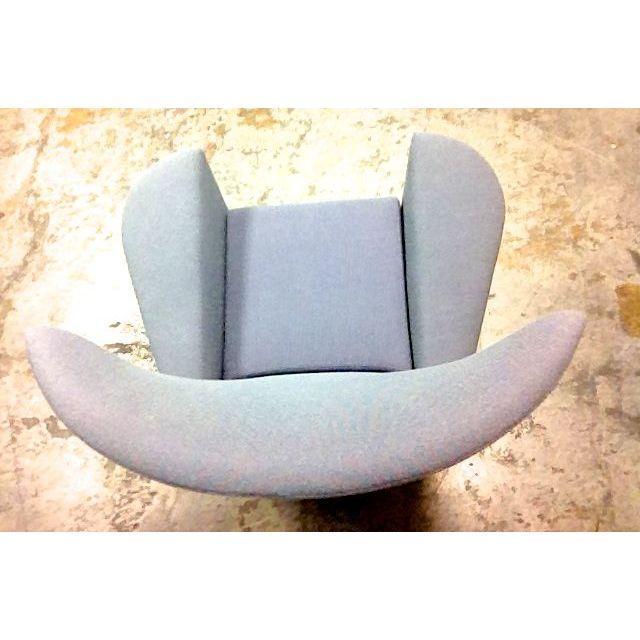 Modern Galerkin Wing Back Chairs - Pair - Image 6 of 7