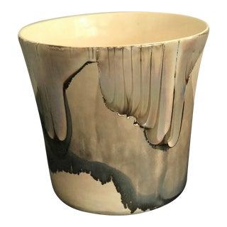 Vintage Iridescent Drip Glaze Vase