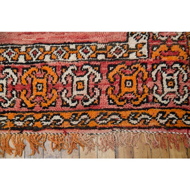 """Red Moroccan Taznakht Rug - 6'7"""" X 8' - Image 6 of 8"""