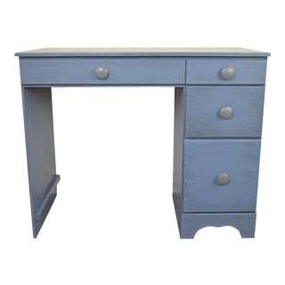 Powder Blue Pine Wood Desk