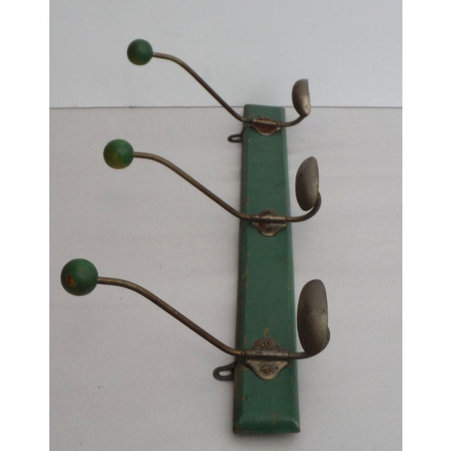 Green French Demilune Coat Rack - Image 3 of 4