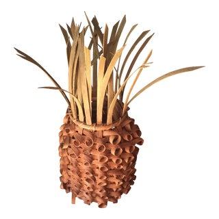 Vintage Woven Pineapple Box