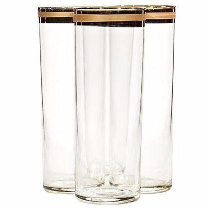 1970s Gold Rim Tom Collins Glasses - Set of 4 - Image 1 of 3