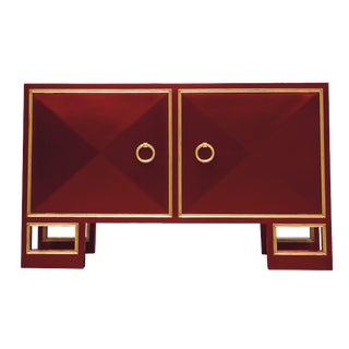 Truex American Furniture Red Lacquer St Regis Cabinet