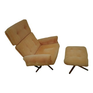 Slatte-Gungan Tufted Lounge Chair & Ottoman