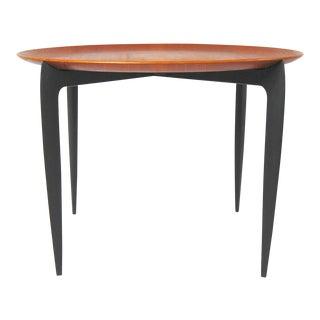 Vintage Danish Modern Fritz Hansen Folding Tray Side Table