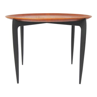 Vintage Danish Modern Fritz Hansen Folding Tray Side Table