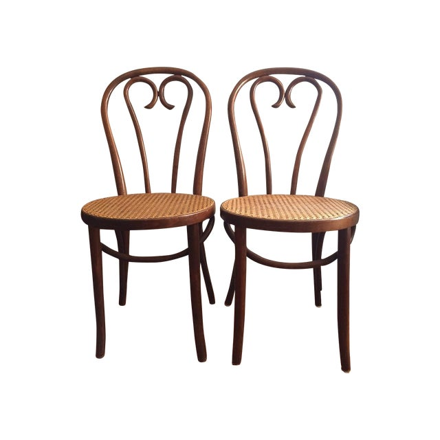 Bentwood Thonet Cafe Chairs - A Pair - Image 1 of 10