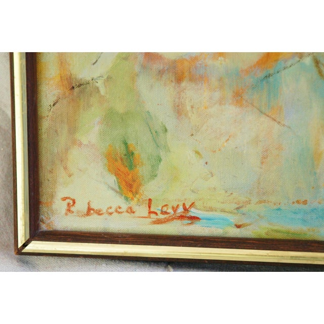Signed Mid-Century Abstract Oil Painting - Image 3 of 5