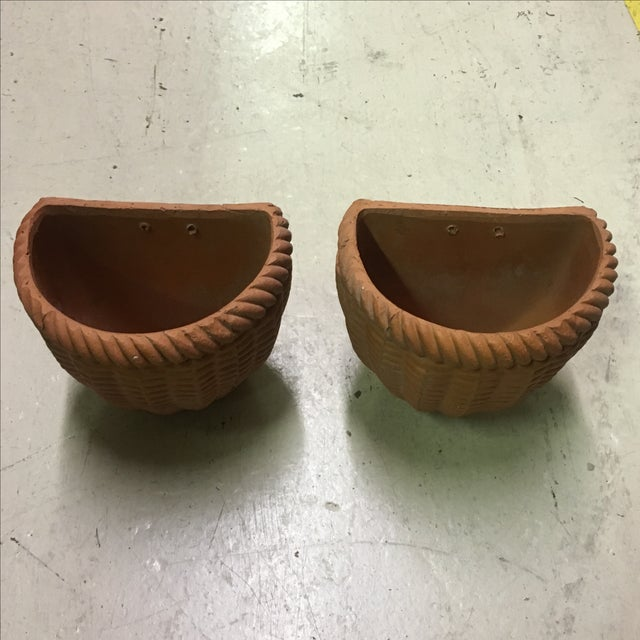 Italian Terra Cotta Wall Pocket Planters - A Pair - Image 3 of 6