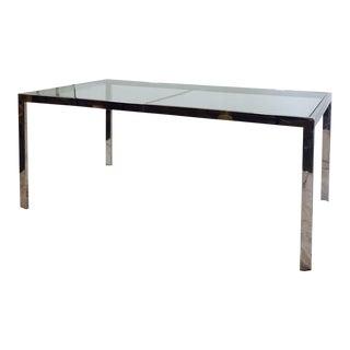 Vintage Mid-Century Modern Chrome & Glass Table
