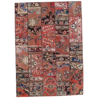 Pasargad N Y Persian Patch-Work Decorative Hand-Knotted Area Rug- 5'x7'