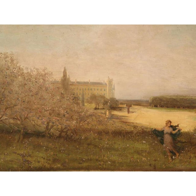 """Amazing 9'8"""" Original Antique French Panoramic Oil Painting on Linen - Image 2 of 10"""