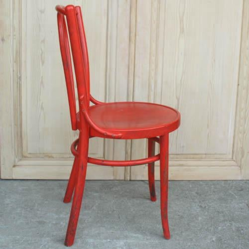 Image of Red French Bentwood Dining Chair