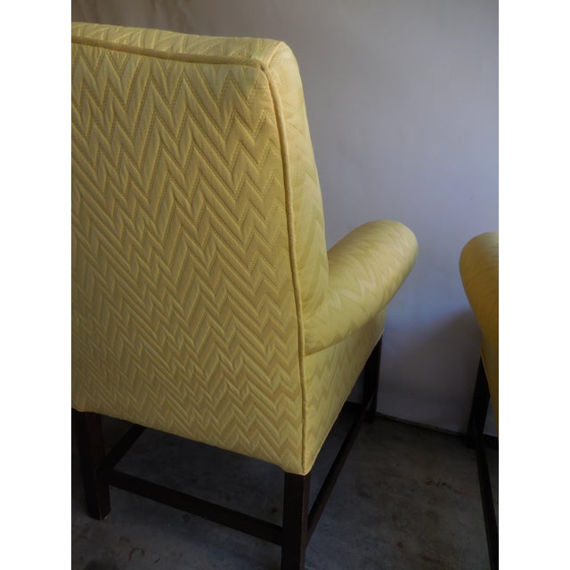Vintage Yellow Fabric Bergere Chairs - A Pair - Image 5 of 7