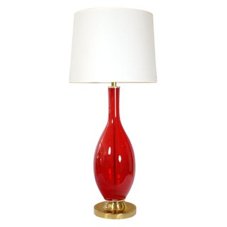 Murano Red Glass Table Lamp