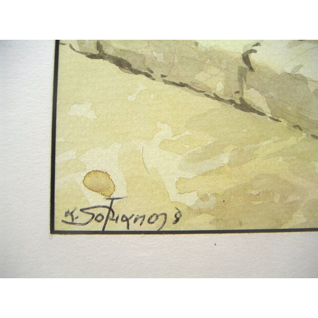Signed Painting - Island Harbor Greece - Image 4 of 4