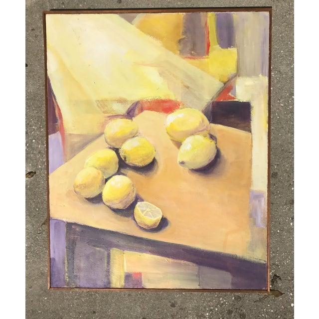 Original Mid-Century Fruit Still Life Painting - Image 2 of 5