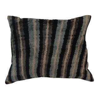 """""""Molly"""" Striped Silk Velvet Ikat Pillow"""