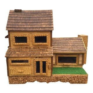 Vintage Handmade Wooden Trinket Drawer House
