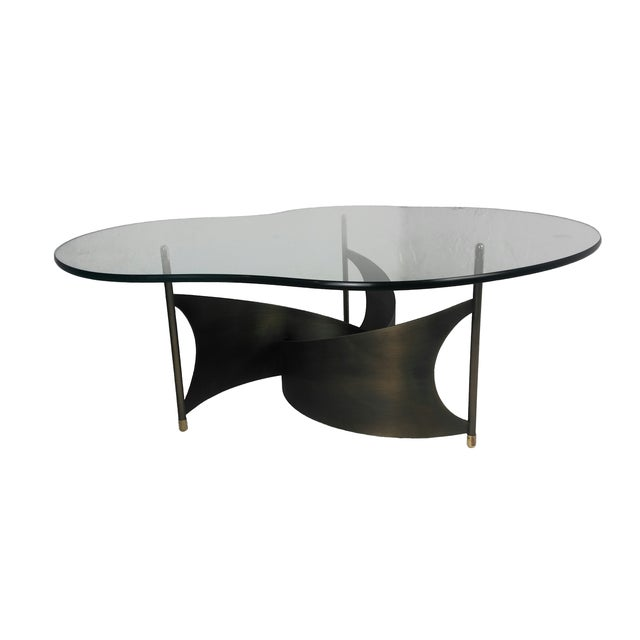 Mid-Century Propeller Base Coffee Table - Image 1 of 9