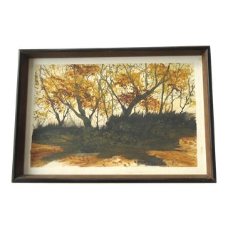 1972 Fall Landscape Painting