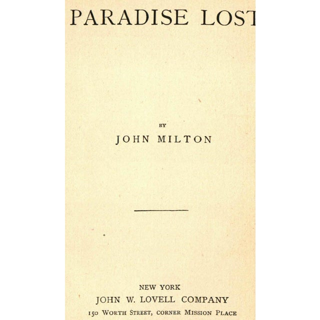 Antique Poetry: Paradise Lost - Image 2 of 2