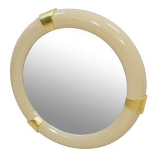 1970s Karl Springer Style Lacquered Mirror