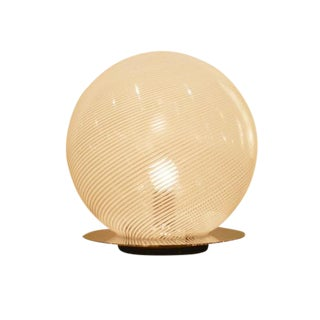 Venini Glass Globe Modernist Table Lamp