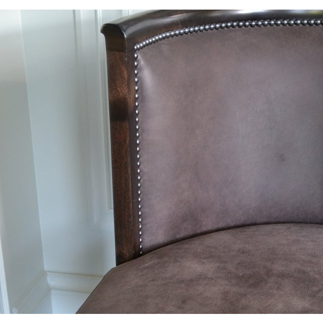 Image of Leather Chairs - Pair