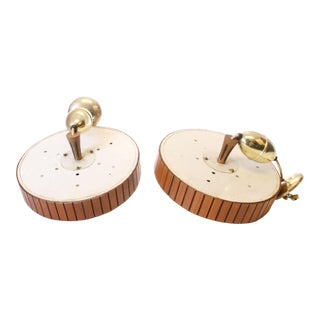 Danish Modern Flying Saucer Ceiling Lights - A Pair