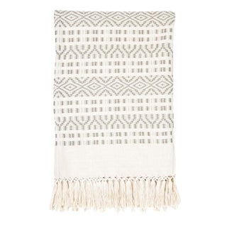 Ecru & Cream Handwoven Chiapas Throw
