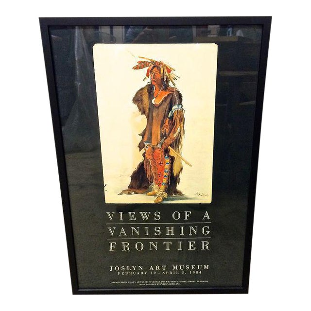 """Vintage Karl Bodmer """"Views of a Vanishing Frontier"""" Museum Poster - Image 1 of 6"""