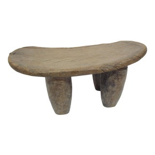 Rustic Carved Wood Stool