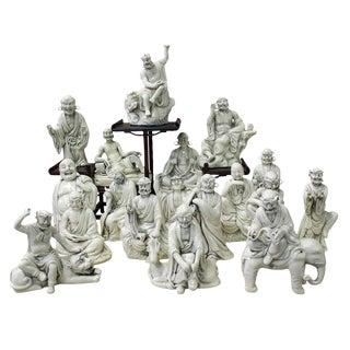 Chinese Porcelain Mythical Figures - Set of 18