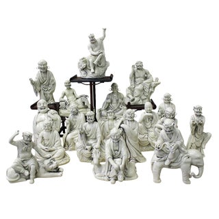 Chinese Porcelain Mythical Figures - Set of 18