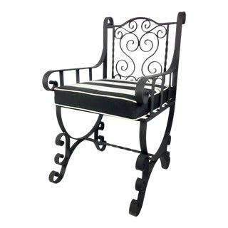 Hand-Wrought Iron Garden Chair
