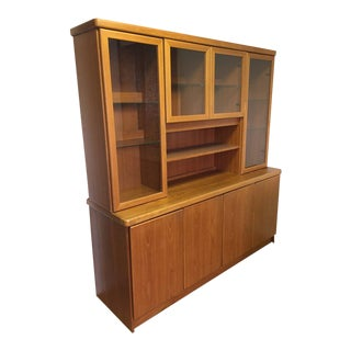 Christian Linneberg Danish Teak Credenza & Display Hutch