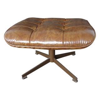 Eames Style Danish Modern Brown Ottoman