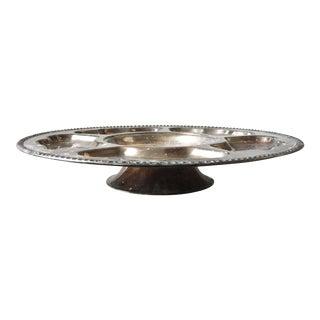 """Vintage 19"""" Silver Plate Serving Platter"""