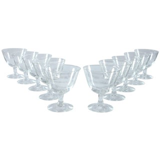 French Etched Port Glasses - Set of 10