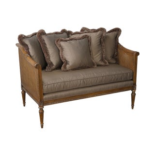 High Quality French Louis XVI Style Caned Settee