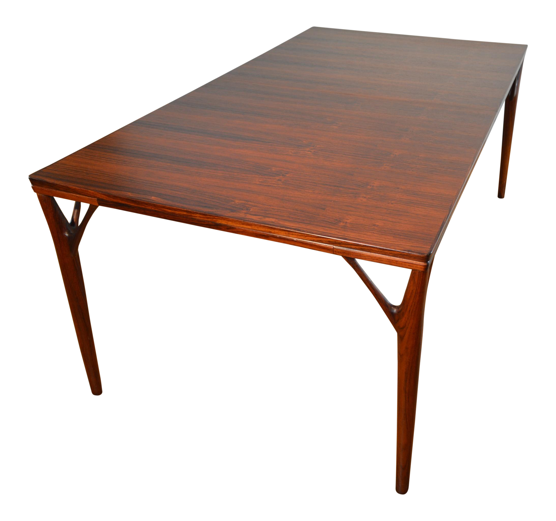 helge rosewood dining table with butterfly leaf