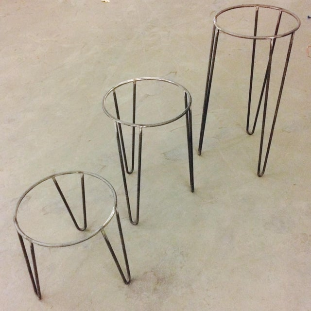 Mid-Century Plant Stands - Set of 3 - Image 3 of 3