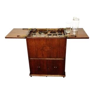 Art Deco Prohibition Era Radio Cabinet Concealed Bar Cart