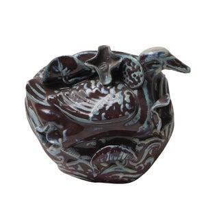 Dark Brown Duck Wall Mounted Vase