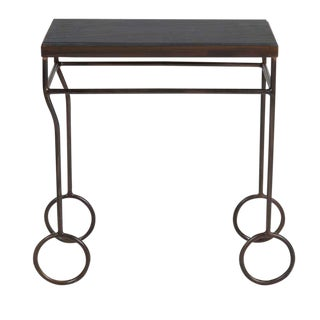 Biron Iron Frame Slate Top Table